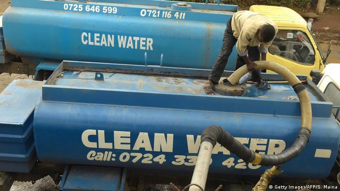 Wassertank in Nairobi, Kenia