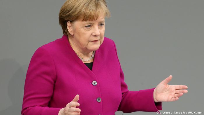 Выступление Ангелы Меркель в бундестаге 21 марта 2018 года