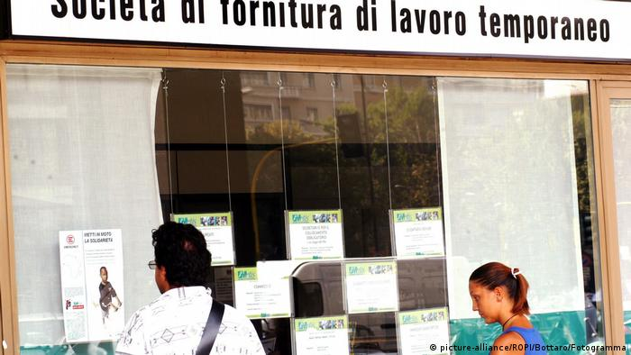 A job center in Milan