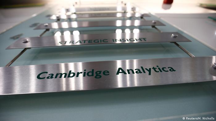 Großbritannien Sitz von Cambridge Analytica in London