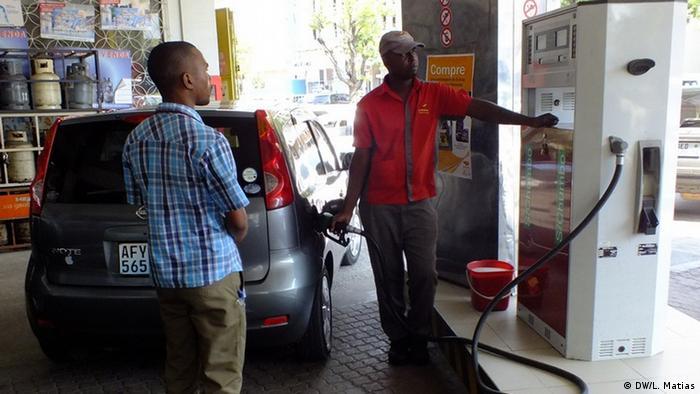 Mosambik - Tankstelle Petromoc