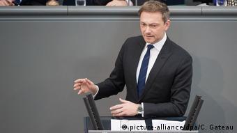Deutschland Berlin - Bundestag - Christian Lindner (picture-alliance/dpa/C. Gateau)