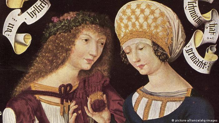 Фрагмент картины Влюбленная пара из Готы