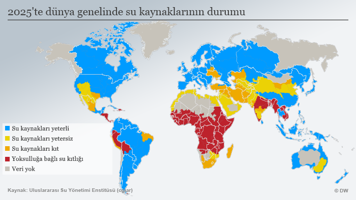 Infografik Wasserknappheit global weltweit TUR