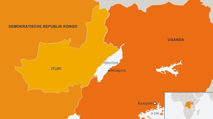 Karte Kongo Uganda Ituri Flüchtlinge DEU