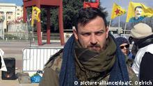 Deniz Naki on Wednesday in front of the UN in Geneva
