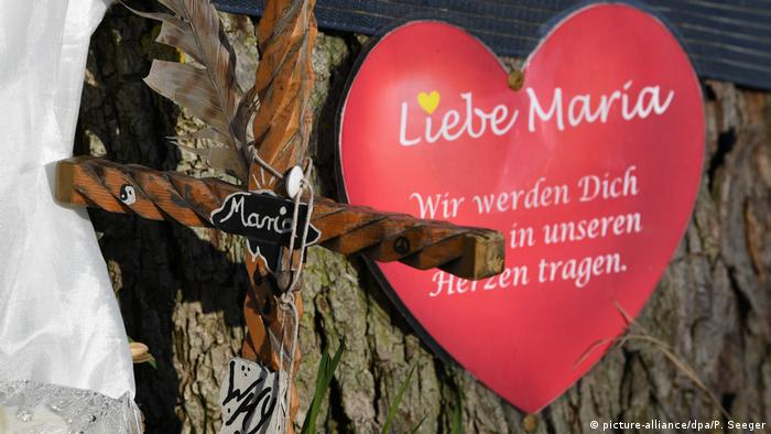 Memorial for the murdered medical student, Maria, in Freiburg