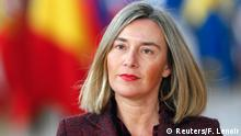 European Union High Representative for Foreign Affairs and Security Policy Federica Mogherini arrives at a European Union leaders summit in Brussels, Belgium, March 22, 2018. REUTERS/Francois Lenoir