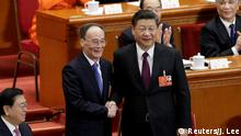 Wang Qishan and Xi Jinping (Reuters/J. Lee)