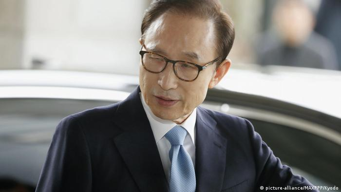 Ex-S. Korean President Lee arrested over corruption scandal