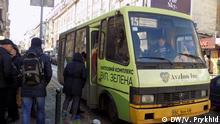 Sammeltaxi in Lemberg Ukraine