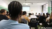 Titel: Verfassung in der Schule Was zu sehen ist: Schüler nehmen an Unterricht teil Wann und wo: März 2018, Sao Paulo/Brasilien Copyright: Nádia Pontes