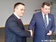 Назар Холодницький (ліворуч) і Артем Ситник у Брюсселі, 22 березня 2018 року