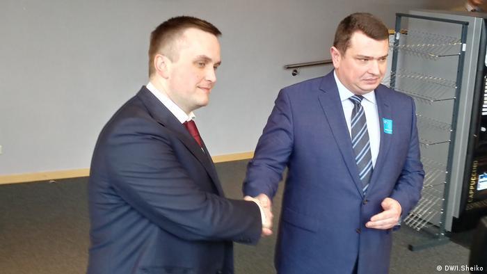Назар Холодницький (л) і Артем Ситник у Брюсселі