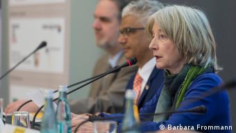 Rolf Rische, Ashok-Alexander Sridharan and Nike Wagner at the press conference of the Beethovenfest Bonn 2018 (Barbara Frommann)
