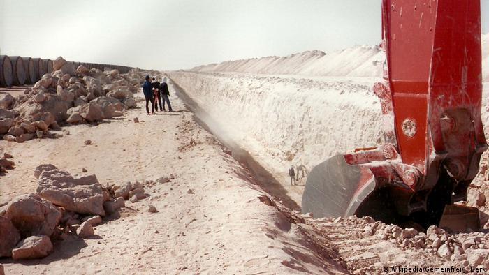 Libyen - Great Man-Made River (Wikipedia/Gemeinfrei/J. Berk)