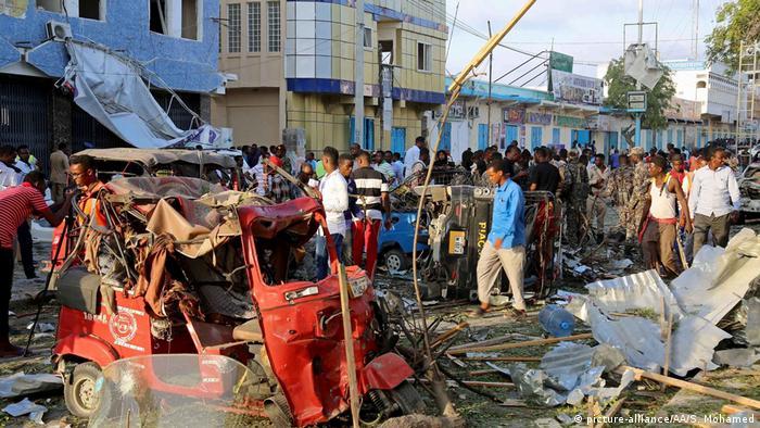 Somalia Mogadischu - Bombenanschlag