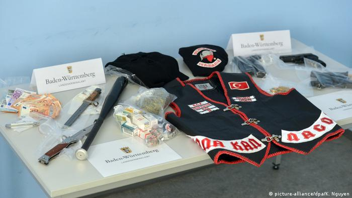 Knives and other weapons seized in police raids on the Osmanen Germania gang