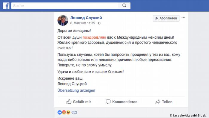 Una dintre postările deputatului rus Leonid Sluţki