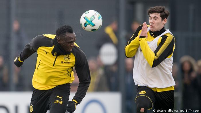 Usain Bolt Training Borussia Dortmund (picture-alliance/dpa/B. Thissen)