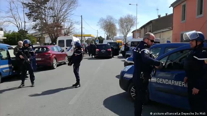 Frankreich Geiselnahme in Trèbes bei Carcassonne (picture-alliance/La Depeche Du Midi)