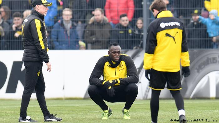 Usain Bolt trainiert zusammen mit Borussia Dortmund (Getty Images/AFP/P. Stollarz)