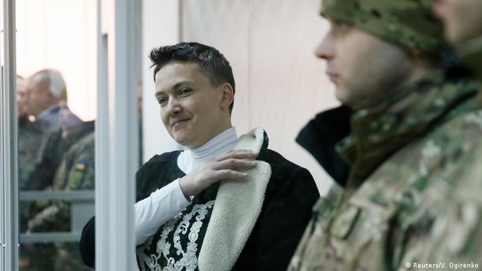 Надія Савченко зараз перебуває в СІЗО (на фото - під час суду в Києві 23 березня 2018 року)