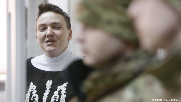 Надія Савченко у залі суду