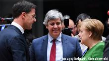 Belgien - EU-Gipfel Angela Merkel, Mark Rutte und Mario Centeno