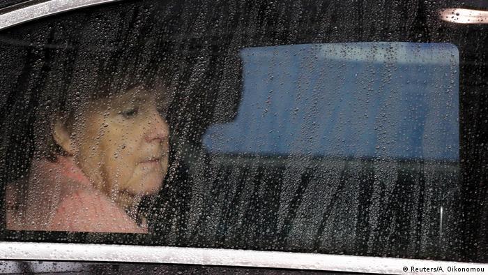 Belgien - EU-Gipfel - Angela Merkel im Auto