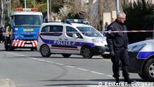 Frankreich Trebes - Polizeiaufgebot nahe Geiselnahme in Supermarkt