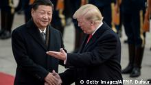 China Peking - Xi Jinping und Donald Trump