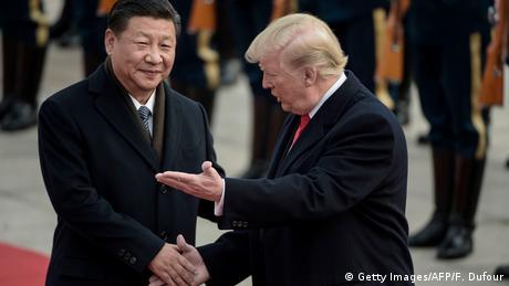 China Peking - Xi Jinping und Donald Trump (Getty Images/AFP/F. Dufour)