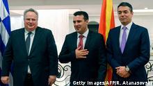 Mazedonien Griechenland Nikos Kotzias zu Besuch in Skopje