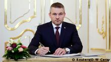 Newly appointed Slovak Prime Minister Peter Pellegrini attends a ceremony in Bratislava, Slovakia, March 22, 2018. REUTERS/David W Cerny