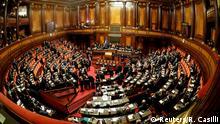 Erste Parlamentssitzung nach Wahlen in Italien - Abstimmung