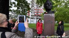 Deutschland - Erinnerung an Juri Gagarin in Erfurt 1963