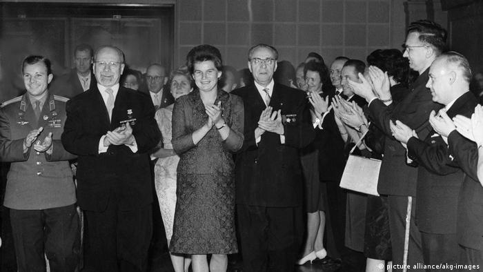 Гагарин и Терешкова в ГДР
