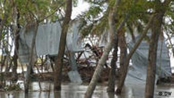 Devastated huts after the Cyclone Aila in Bangladesh