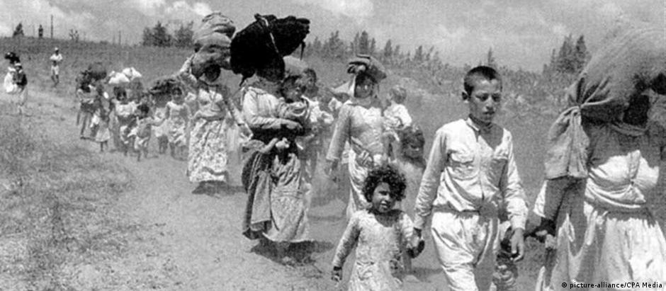 Êxodo palestino após fundação de Israel, em 1948: habitantes árabes da região perderam seus lares