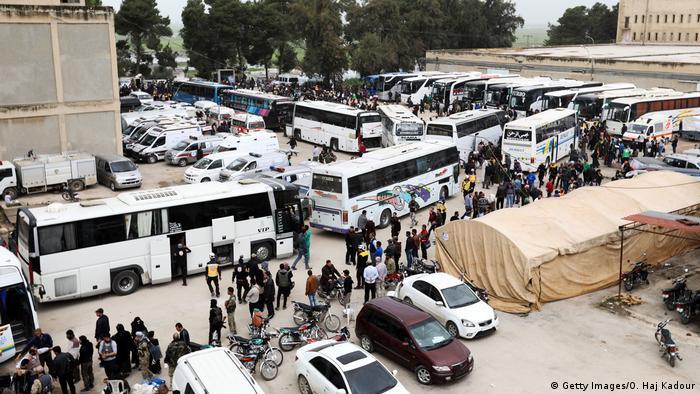 Syrien Qalat al Madiq Geflüchtete aus Ost-Ghouta