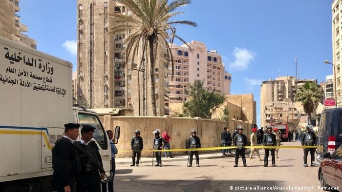 Egyptian security forces take security measures after a terrorist attack