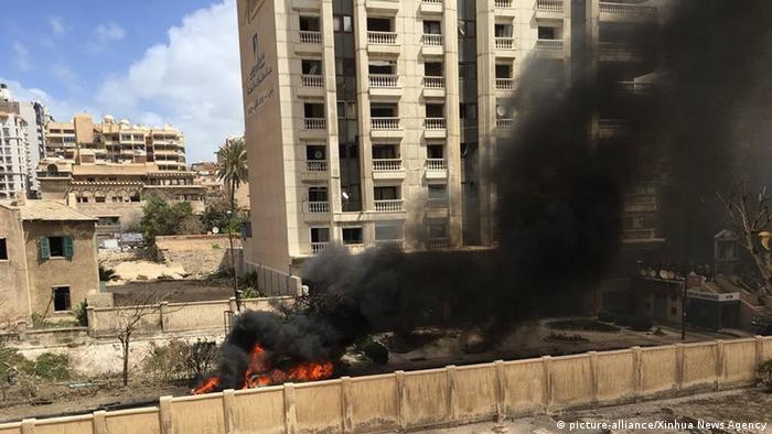 An Egyptian police officer was killed in a bomb blast targeting the region's security chief