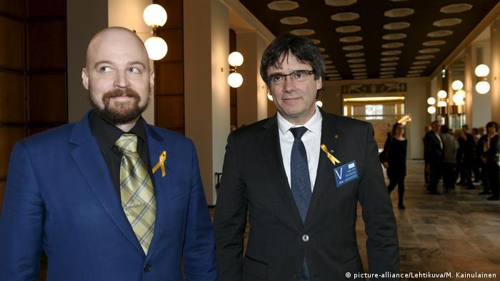 Finnland Helsinki Carles Puigdemont (picture-alliance/Lehtikuva/M. Kainulainen)