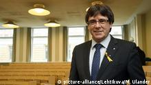 Carles Puigdemont on his visit to Finland on Friday March 23 (picture-alliance/Lehtikuva/M. Ulander)