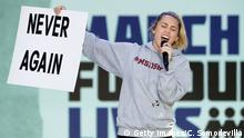 Washington March for Our Lives Protestmarsch Miley Cyrus
