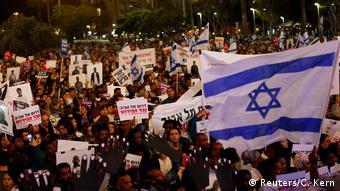 Israel Protest gegen Deportationen von Asylbewerbern