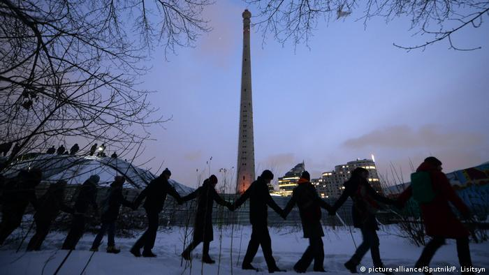 Protest against the demolition of the Yekaterinburg TV tower (picture-alliance/Sputnik/P. Lisitsyn)