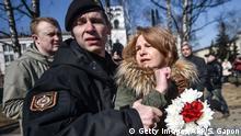 Weißrussland Minsk Verhaftungen bei Feierlichkeiten zum 100. Jahrestag Weißrusslands