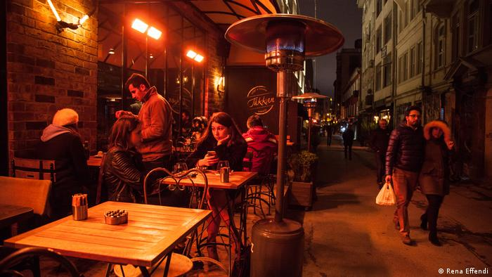 A bar terrace in the Istanbul neighborhood of Karakoy (Rena Effendi)